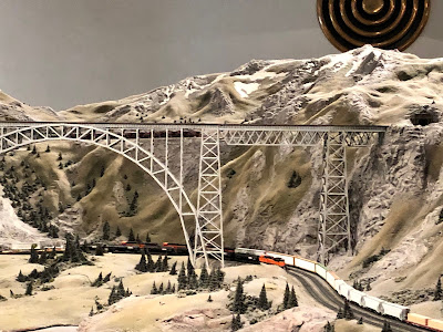 The detail of the trains traveling though the mountains in the Great Train Story at Museum of Science and Industry is incredible!