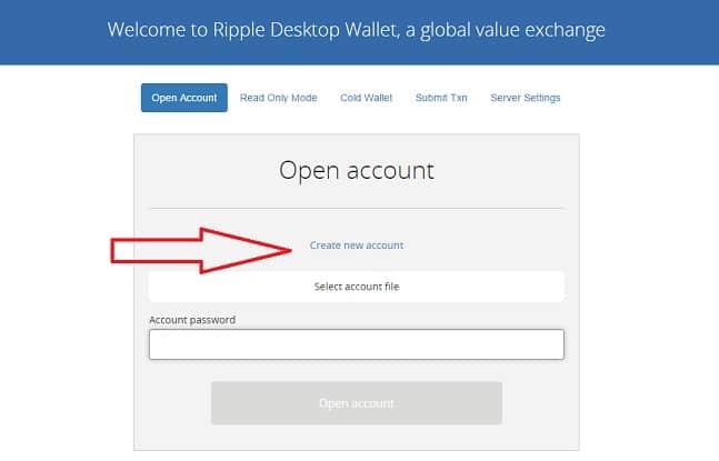 crear cuenta monedero ripple