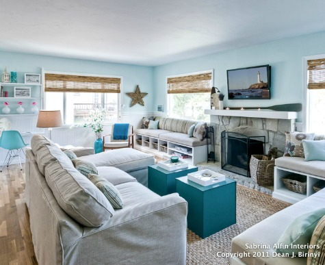 Modern Style Small Coastal Living Room
