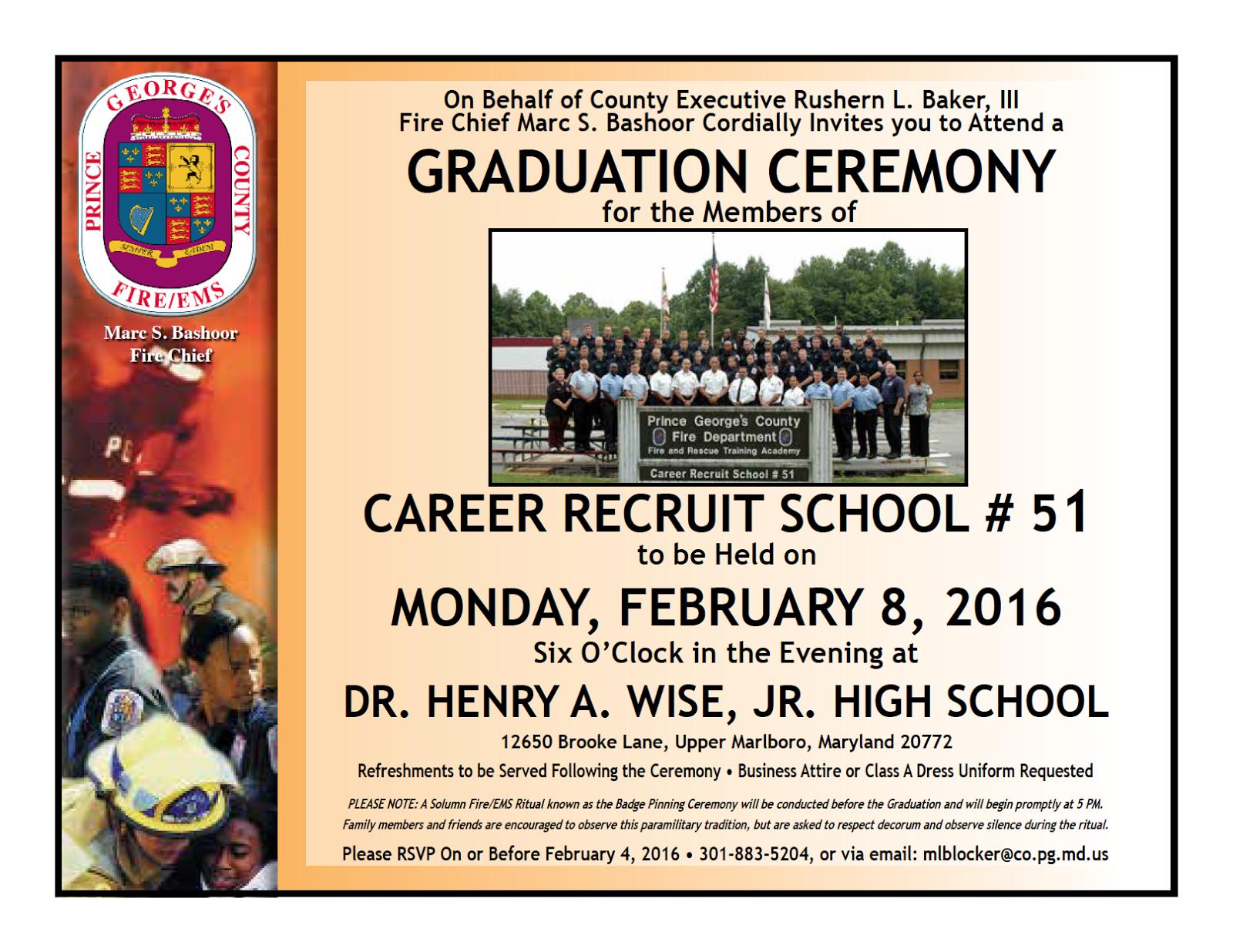 Fire Academy Graduation Invitations