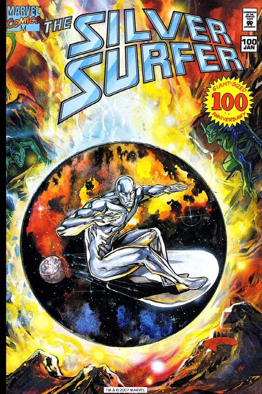 Read online Silver Surfer (1987) comic -  Issue #100 - 1