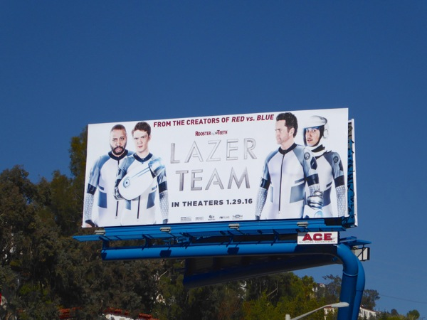 Lazer Team theatrical release movie billboard