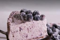 Easy Lemon Blueberry Mousse Cake
