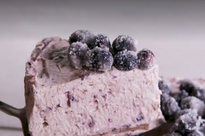 Easy Lemon Blueberry Mousse Cake
