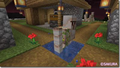 Minecraft ぷちアイアンゴーレムトラップ ハマった図