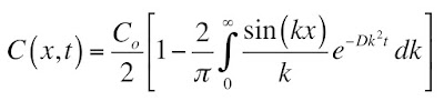 A solution of the one dimensional diffusion equation without error functions.