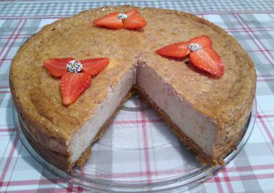 cheesecake fraises mascarpone galettes bretonnes