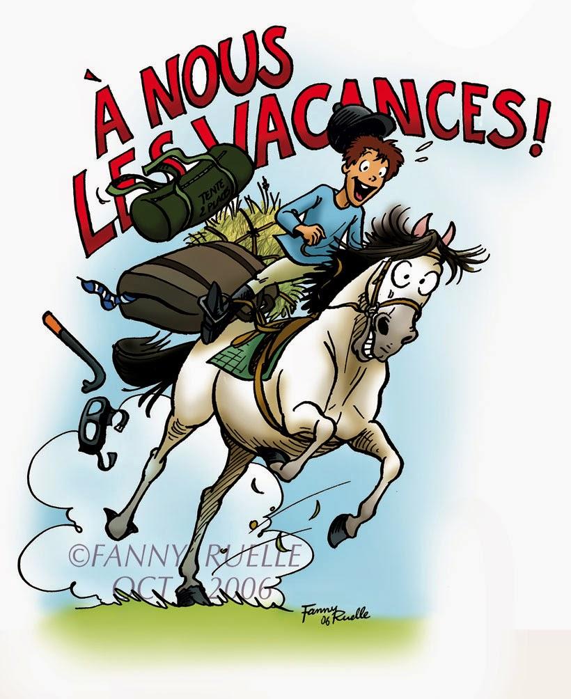 image cheval en vacances