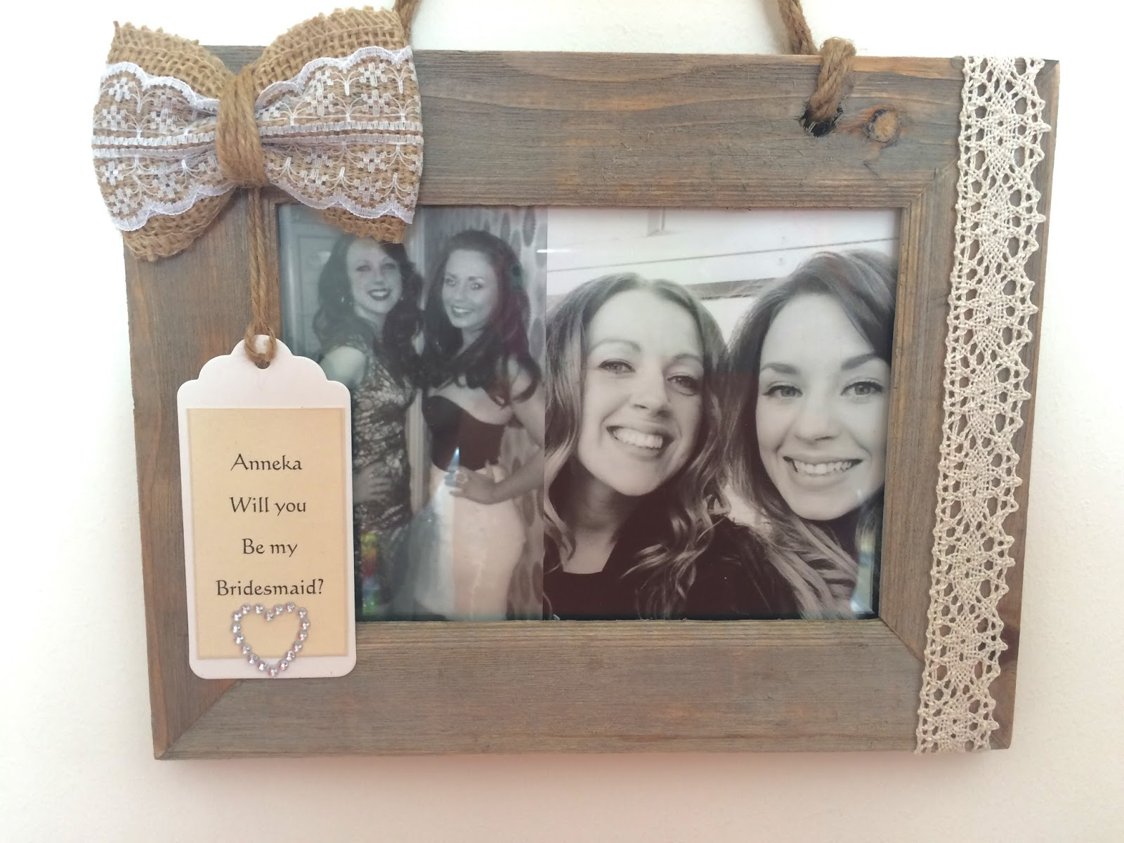 Diy Will You Be My Bridesmaid Photo Frame Bella Coco By Sarah Jayne