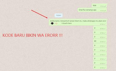 Cara Membuat Whatsapp Error Kode Hitam