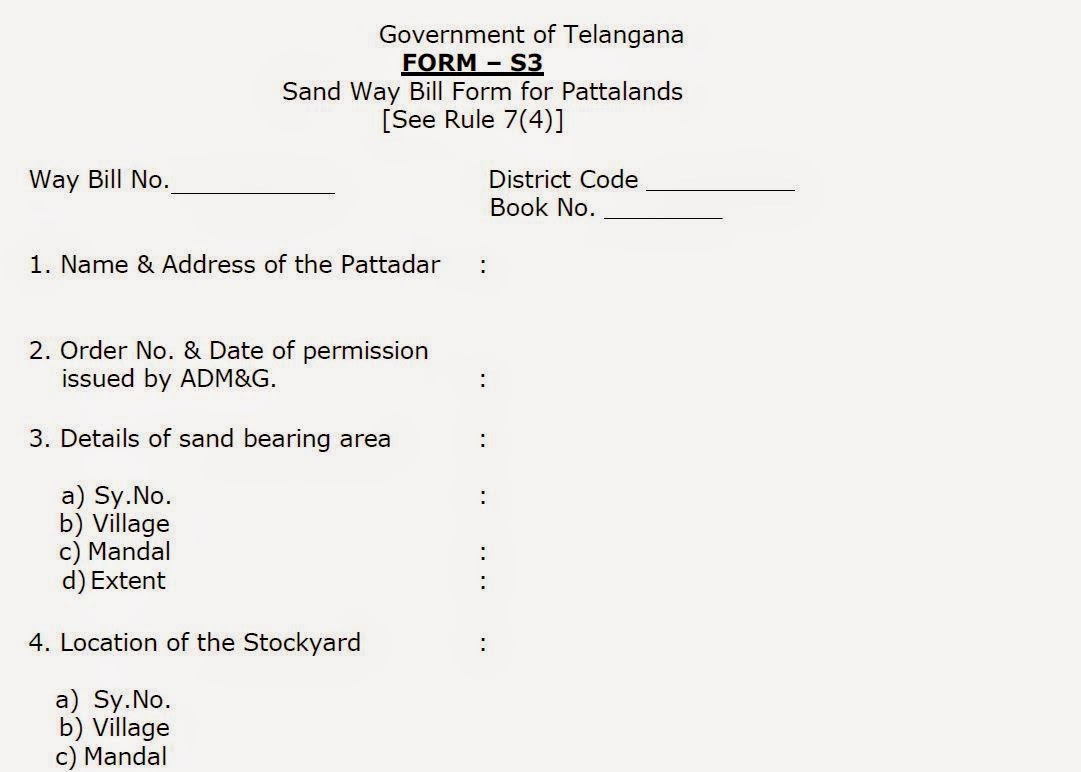 TELANGANA STATE SAND MINING RULES – 2015 (TSSMR-2015) - AJIT