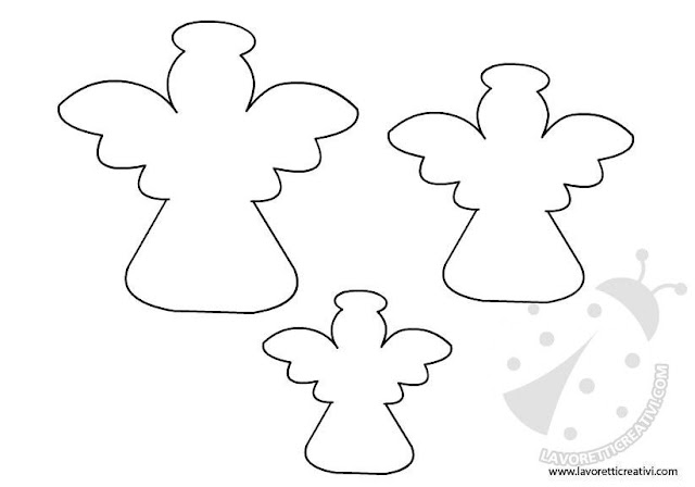 Free Printable Angel Templates for Toppers, Labels or Decorations.