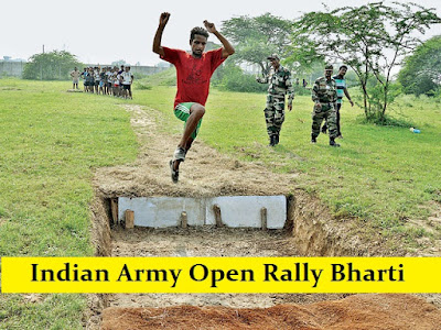 Indian Army Open Rally Bharti 2017 - 2018 - Schedule, Dates, Online Registration