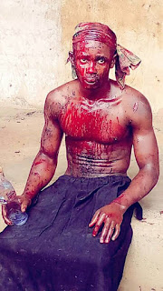 Graphic Images of A  Business Man Nearly Lynched, For Kidnapping of A boy For ritual Purposes