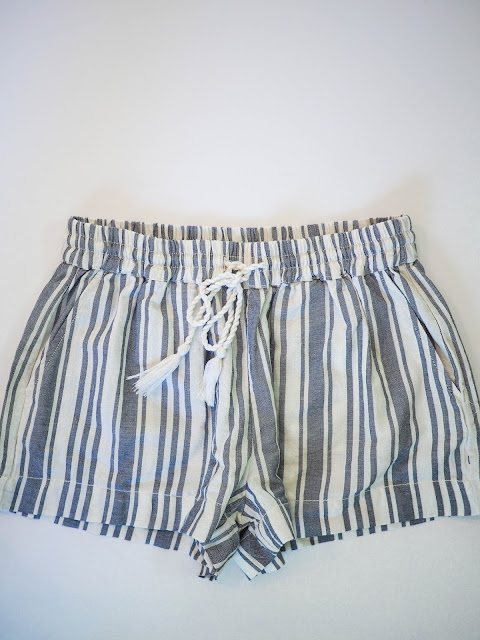 H&M, shorts, fashion, tassels, drawstring, stripes