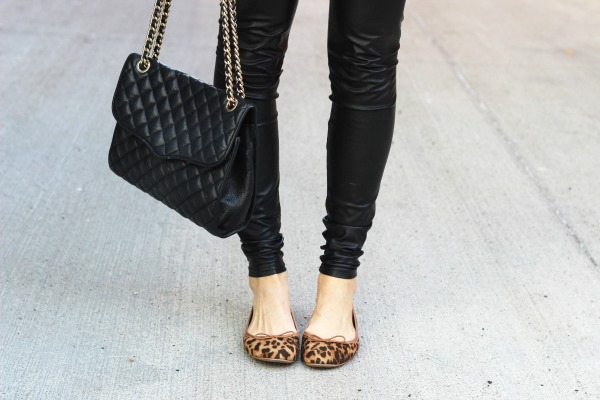 leopard flats fashion blogger toronto