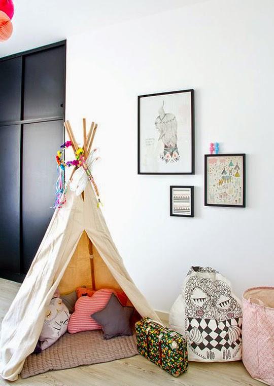 child's room teepee