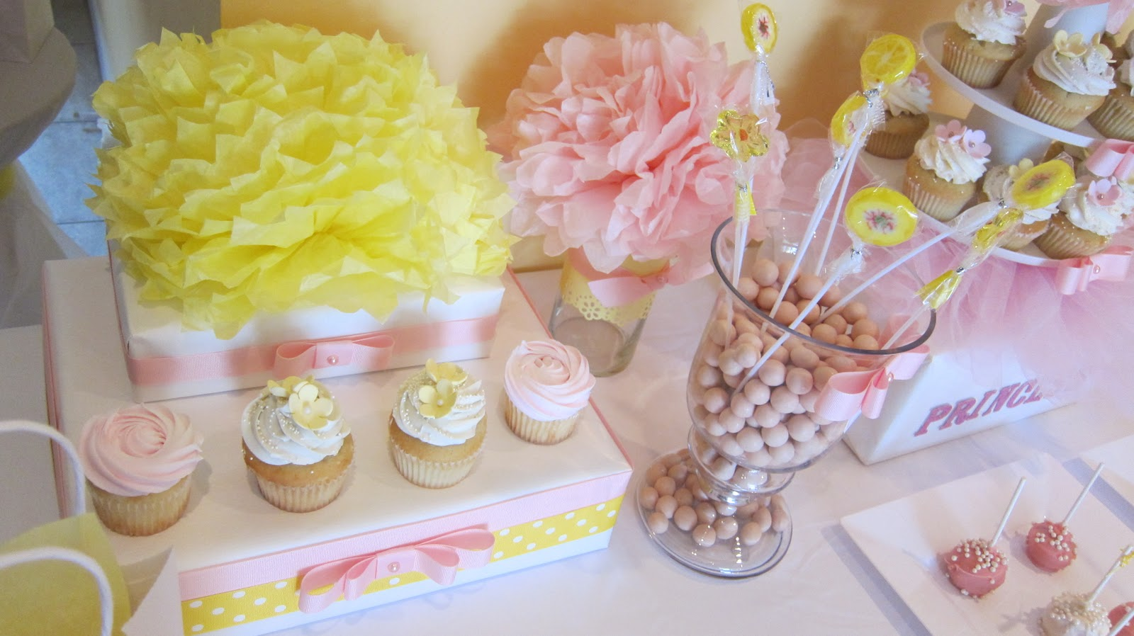 Simplyiced Party Details Princess Party Pink And Yellow