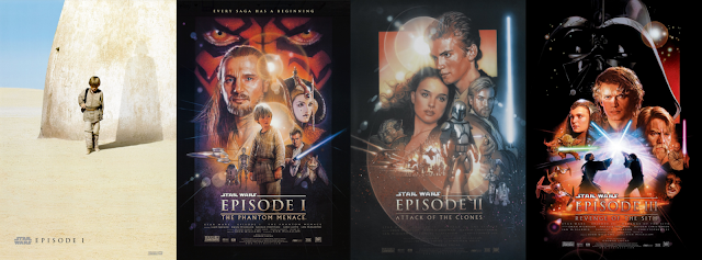 The Star Wars prequel posters