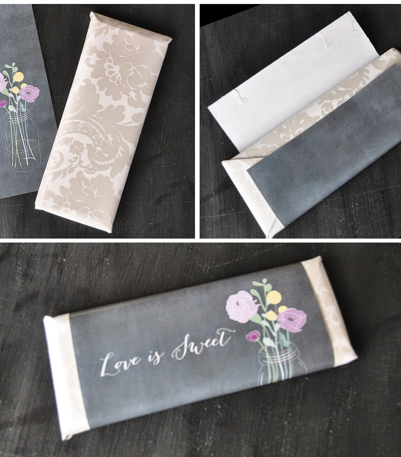 tutorial for chalkboard inspired wrappers to use on regular sized chocolate bars  | Creative Bag blog at creativebag.com