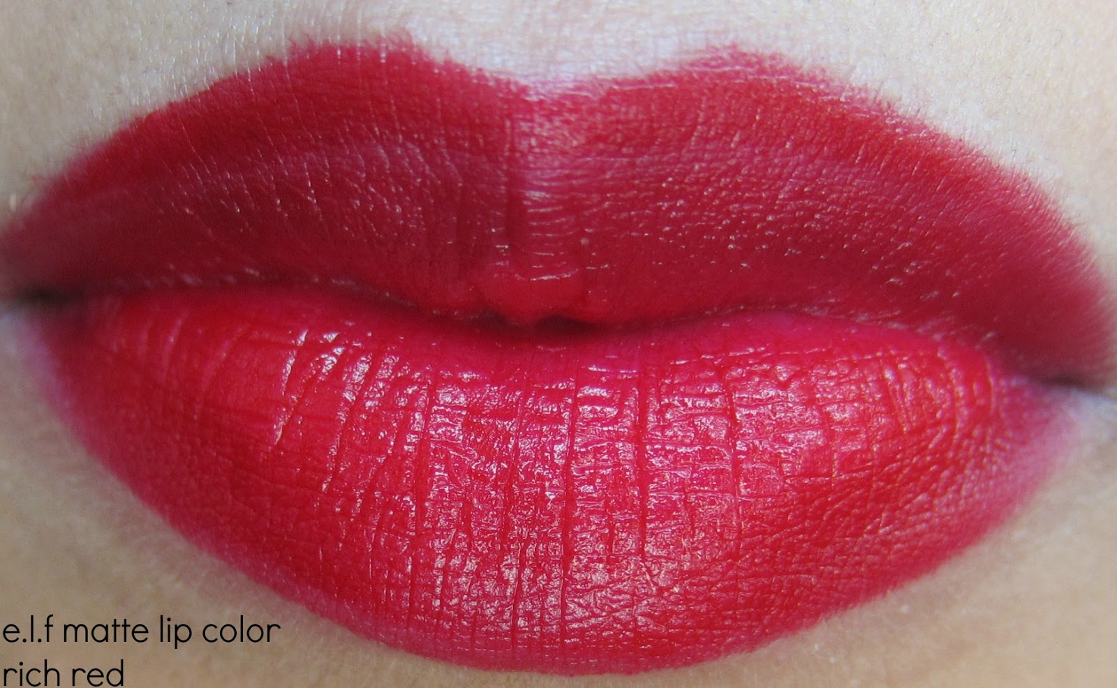 e.l.f matte lip color rich red