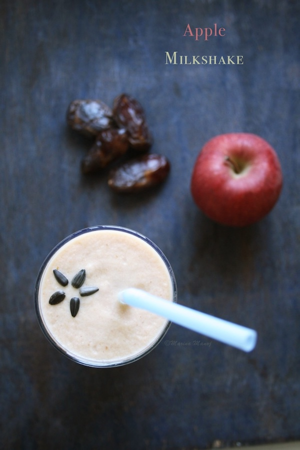 Apple Milkshake Recipe | How to make sugar free Apple Milkshake
