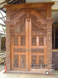 Gebyok Jawa kayu jati