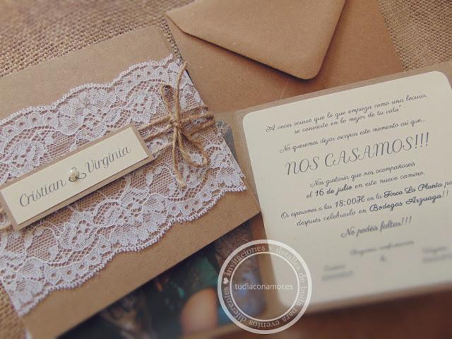 Invitaciones con diseños hechos a medida y personalizados a un buen precio, contacta con Tu día Con Amor
