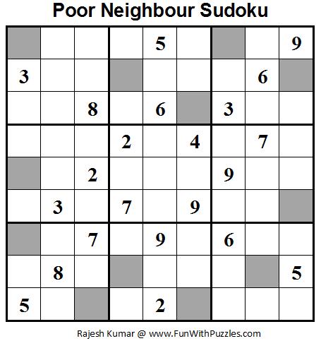 Poor Neighbours Sudoku (Daily Sudoku League #63)