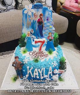 Kue Tart Ulang Tahun Frozen Ombre Cake