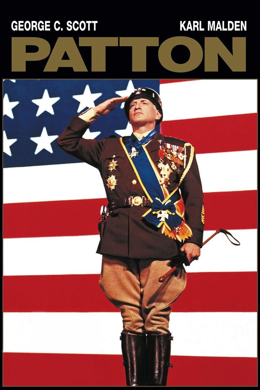 LAS MEJORES PELÍCULAS DE LA HISTORIA DEL CINE: PATTON (1970). George C.  Scott es el general Patton.