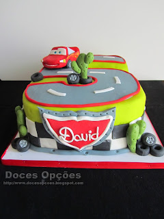 bolo forma de cinco