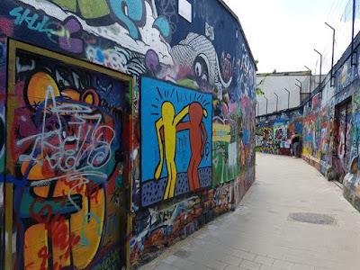 Calle de los graffitis de Gante