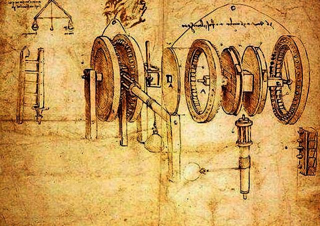 leonardo-da-vinci-invention-Continuously-Variable-Transmission-concept-diagram