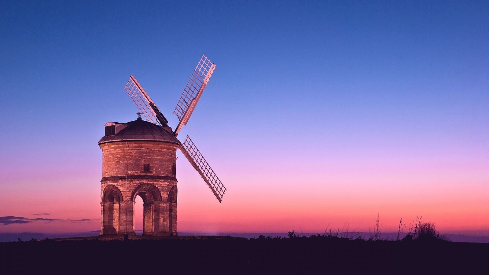 Vintage Cute Girl Wallpaper Windmill Mystery Wallpaper