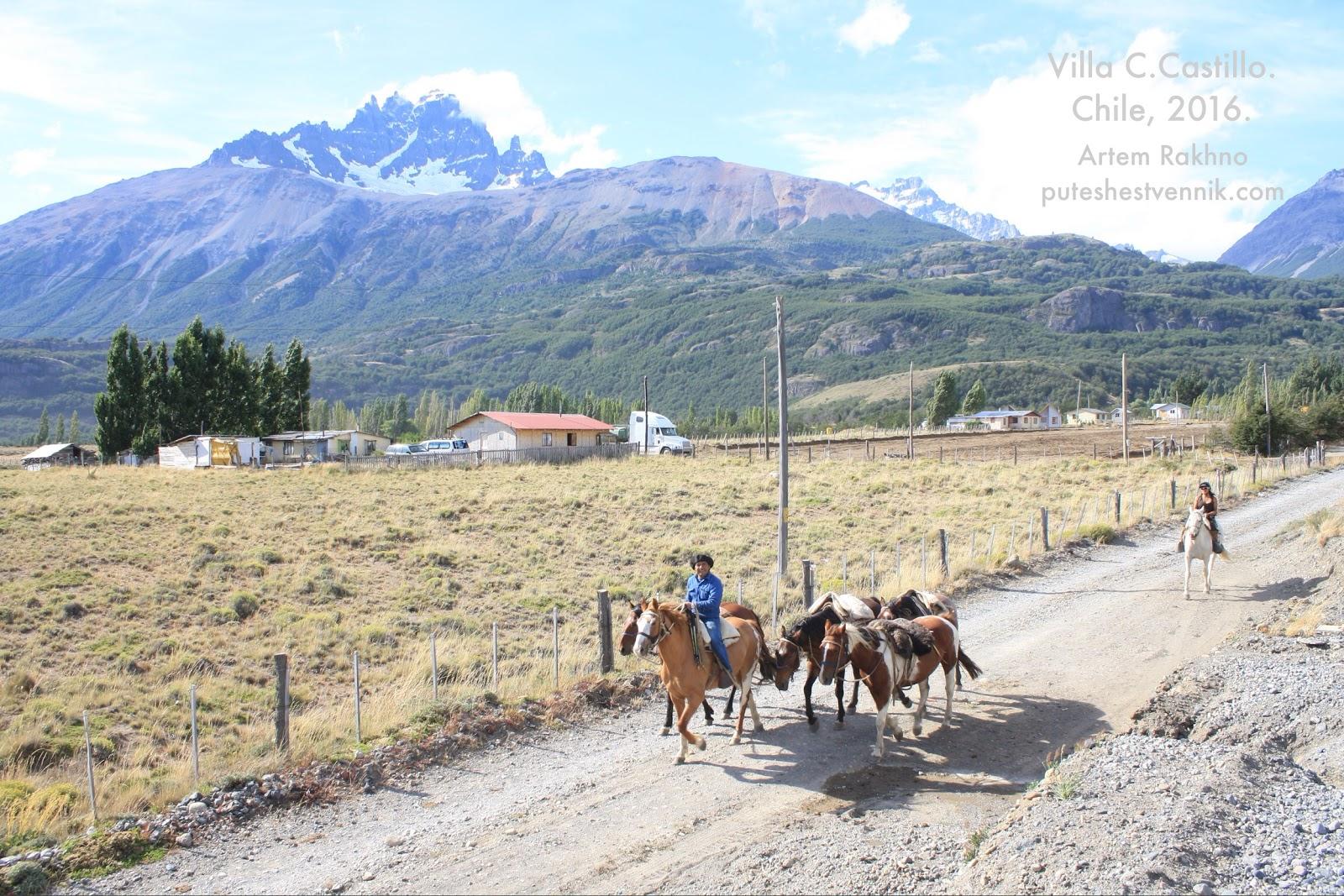 Погонщик лошадей в Чили
