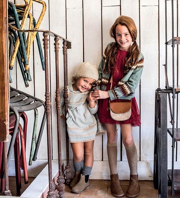 Vestidos otoño invierno 2018. Faldas para niñas otoño invierno 2018.
