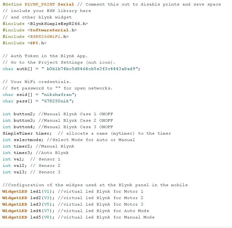 FYP: PLANT WATERING SYSTEM: Week 21 (FYP2) : Coding for