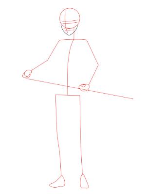 cara menggambar Sasuke Hebi tahap 4