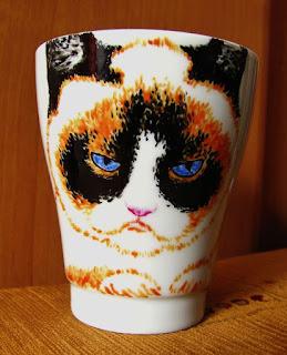 Taza DIY pintada a mano con gato