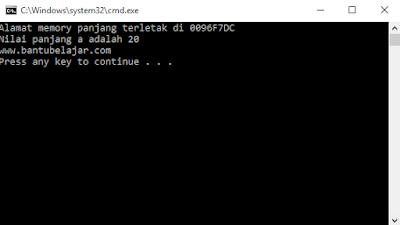 Pointer Pada C++ Beserta Contoh Programnya