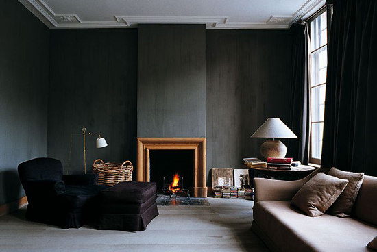 Black interiors inspiration by Andrea Ferrari