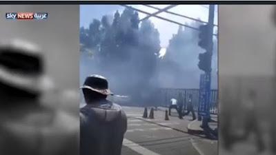 لحظة الانفجار قرب السفارة الأمريكية في بكين