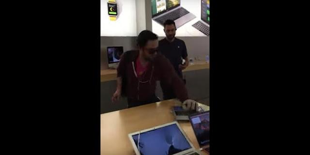 Mengamuk di Toko Apple, Pria Ini Hancurkan iPhone dan MacBook Senilai Ribuan Dollar