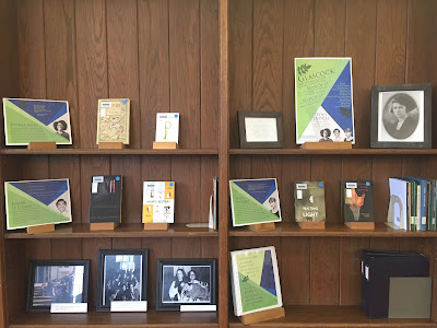 Display of books by 2018 Glascock Competition poet judges