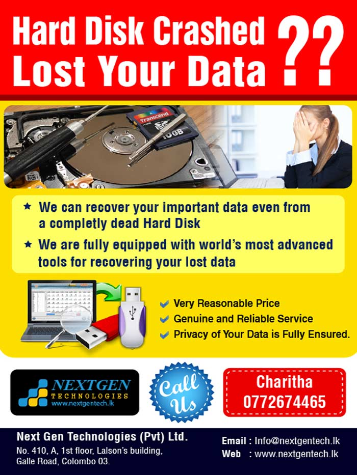 Next Gen Technologies Data Recovery Service provides Advance Data Recovery solutions, Hard Drive repair & other professional media services. We are fully equipped with World Best Recovery Tools for provide best quality service.  Our goal has always been to deliver reliable  services with affordable price estimates and fast turnaround times.