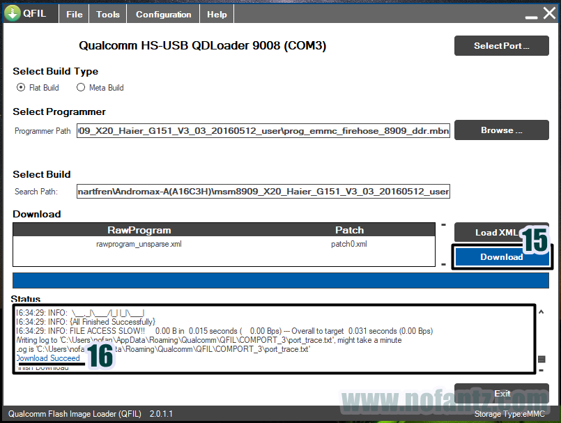 Tutorial Flashing Smartfren Andromax A A16C3H via QPST/QFIL