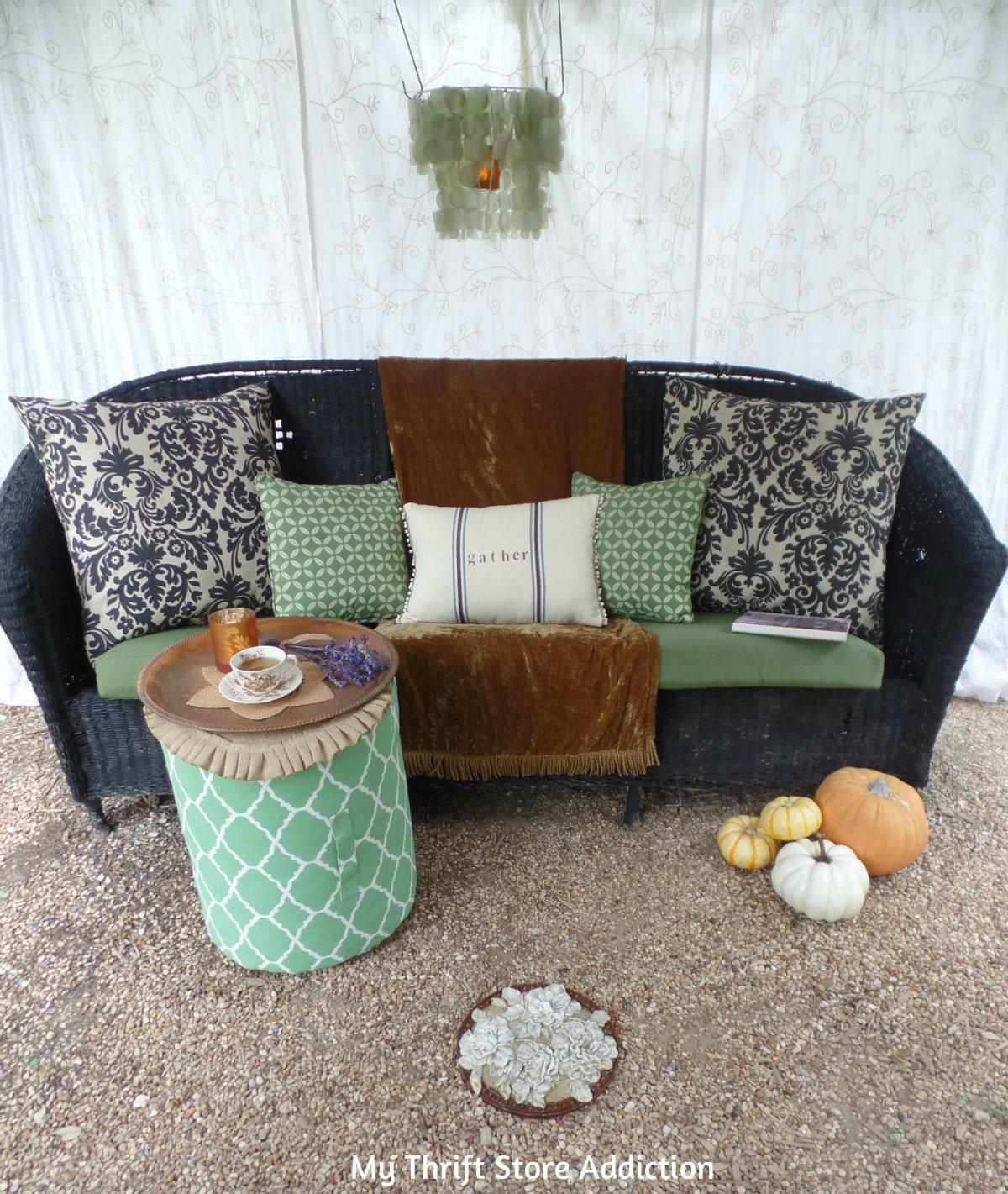 boho style cozy fall outdoor retreat