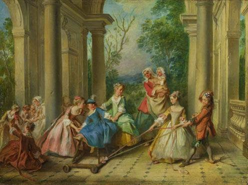 Lancret, 1730-35, The Four Ages of Man: Childhood