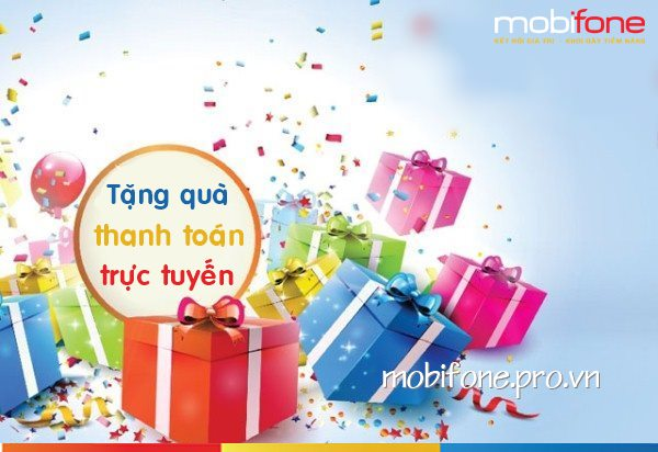 Mobifone khuyến mãi thanh toán trực tuyến cuối tháng 12